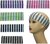 Haarband print streep - color -