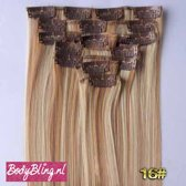 Clip in hairextensions 7 set straight blond - P27/613