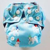 AN8 AIO Newborn wasbare Pocket luier ijsbeer