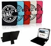Nextbook Premium 7 Fragile Print Case, Trendy Hoesje, Kleur Rood, merk i12Cover