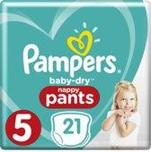 Pampers Baby-Dry Pants - Maat 5 (Junior) 12-17 kg - 21 Stuks - Luierbroekjes