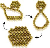 DIY Magic Puzzle / Buckyballs Magnet Balls met 50pcs Magnet Balls (geel)