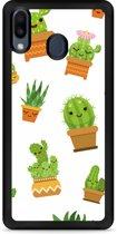 Galaxy M20 Softcase hoesje Happy Cactus