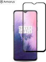 OnePlus 7 - Full-Cover Tempered Glass - Zwart