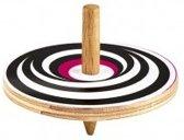 Moses Houten Tol Met Optische Illusie 5 Cm Zwart/roze