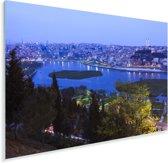 Schitterend blauw water voor Istanbul Plexiglas 30x20 cm - klein - Foto print op Glas (Plexiglas wanddecoratie)