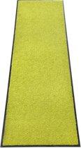 Wasbare en antislip deurmat, zonder PVC voor binnen en buiten (60 x 120 cm - citroen)