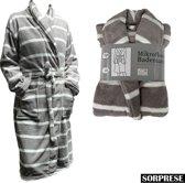 Sorprese - Luxe badjas - Extra zachte badstof - MICRO FLEECE - badjas - bad jas - ochtendjas - Design B