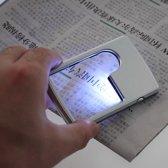 Leesloep Vergrootglas / Handloep Met LED Verlichting - Loupe Lamp - Loep Leeslamp