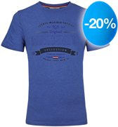 Heren T-shirt Domburg  -  Hard Blauw