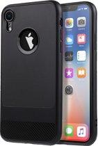 Luxe Apple iPhone XR Hoesje – Zwart – Geborsteld TPU Carbon Fiber Case – Shockproof Cover