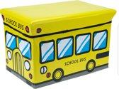 Opbergbox en kinderzitje schoolbus