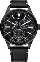 Tommy Hilfiger TH1791638 Horloge  - Leer - Zwart - Ø  44 mm