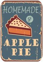 Papillon Afdruipmat met print - antislip keukenmat - apple pie - 50x40 cm
