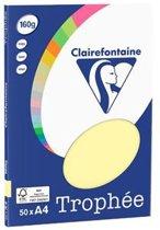 Clairefontaine Trophée - geel - Kopieerpapier- A4 160 gram - 50 vellen