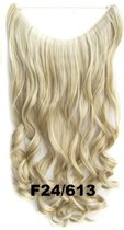 Wire hair extensions wavy blond - F24/613