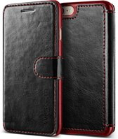 VRS Design Layered Dandy leather case Apple iPhone 7 / 8 - Black/Wine
