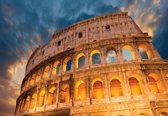 Fotobehang Colosseum City Sunset | XXL - 312cm x 219cm | 130g/m2 Vlies