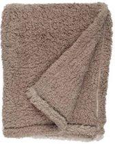 Unique Living Ivar - Fleece plaid - 130x160 cm - Taupe