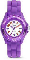Colori Kidz 5 CLK015 Kinderhorloge - Siliconen Band - Ø 30 mm - Paars