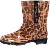 Halfhoge dames regenlaarzen met luipaardprint 40
