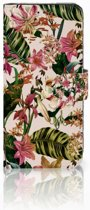 Samsung Galaxy S8 Uniek Boekhoesje Flowers