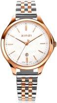 ZINZI Classy ZIW1018 34mm rood rosé + gratis Zinzi armbandje