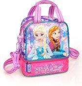 Frozen Elsa en Anna - Lunchtas - 22 cm hoog - Paars/Roze