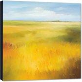 Yellow field l – 70x70 cm – Hans Paus – PixaPrint – AB0201-1