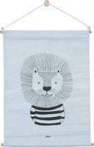 Jollein Wild animals Poster 42x60cm canvas soft blue