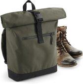 Senvi Stoere Laptoptas/Backpack - Kleur Olive/Zwart - 12 Liter