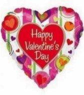 """Happy Valentine's Day"" Folie Ballon, 81 x 81cm"
