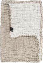 Hannelin sprei naturel/white 160 x 260 cm