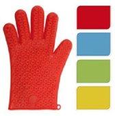 Oven Handschoen Siliconen Blauw