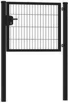 Enkele tuinpoort 100 x 80 cm (bxh) | zwart RAL9005 premium