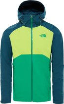 The North Face Stratos Jas Heren - Primary Green/lime Green/kodiak Blue - Maat L