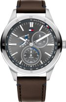 Tommy Hilfiger TH1791637 Horloge  - Leer - Bruin - Ø  44 mm