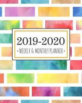 2019-2020 planner color block: Color Block Diary Agenda Calendar Schedule Organizer - Sept 2019 through December 2020
