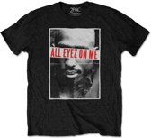 Tupac - All Eyez heren unisex T-shirt zwart - XL