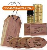 VOORDEEL Cederhout pakket tegen motten 8 items