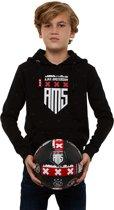 Ajax hooded sweater kinderen - zwart - maat 140