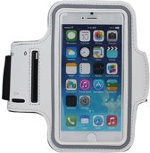 Sport Armband Wit Hardloopband voor iPhone 8