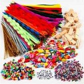 Pret met wasknijpers en chenilledraad, diverse kleuren, 1set