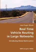 Real Time Vehicle Routing in Large Networks- Introducing Global Optimization
