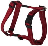 Rogz For Dogs Lumberjack Hondentuig - Rood - 25 mm x 60-101 cm