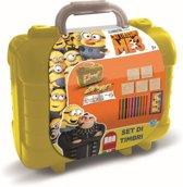Schrijfset koffer Minions 81-delig