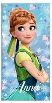 Disney Frozen Strandlaken Anna Hearts - 70x140 - Blue