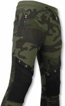 Camouflage Broek - Casual Joggingbroek - Camouflage Biker - Khaki - Maten: XL