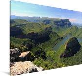 De Zuid-Afrikaanse kloof in de middag Canvas 140x90 cm - Foto print op Canvas schilderij (Wanddecoratie woonkamer / slaapkamer)