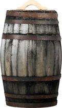 Regenton 100 liter oud gemaakt met handvat
